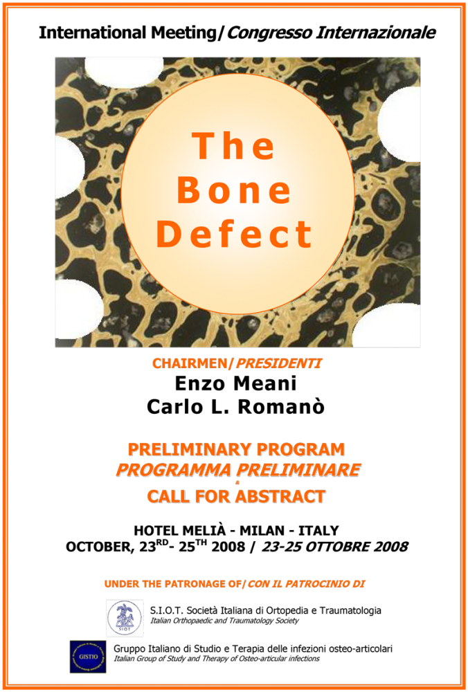 INTERNATIONAL MEETING THE BONE DEFECTS
